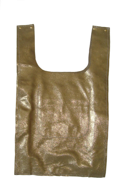 sacchetto in pelle lurex